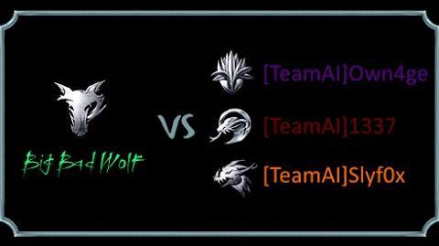 Battle Realms- Big Bad Wolf vs -TeamAI-. 1 vs 3. AI.