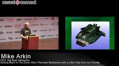 Getting Back In The Zone How I Remade Battlezone with a Little Help from my Friends Mike Arkin