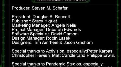 Battlezone The Red Odyssey Credits