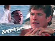 MITCH DIVES IN TO SAVE A MAN IN DANGER! BAYWATCH REMASTERED