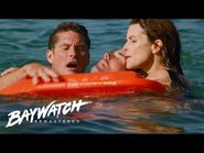 MITCH RUSHES INTO THE WATER To Help Fellow Lifeguard Alex Rescue A Man Choking!! Baywatch Remastered