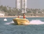 Baywatch - February 4, 1995 - 345 - CJ (Pamela Anderson) & Caroline (Yasmine Bleeth) In Their Red Lifeguard Bathing Suits