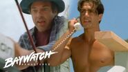 A Fisherman Gets Caught In The Current His Boat Smashes In The Rocks Can He Be Saved?! Baywatch