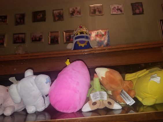 Our plushie collection. The disciples bow before their king