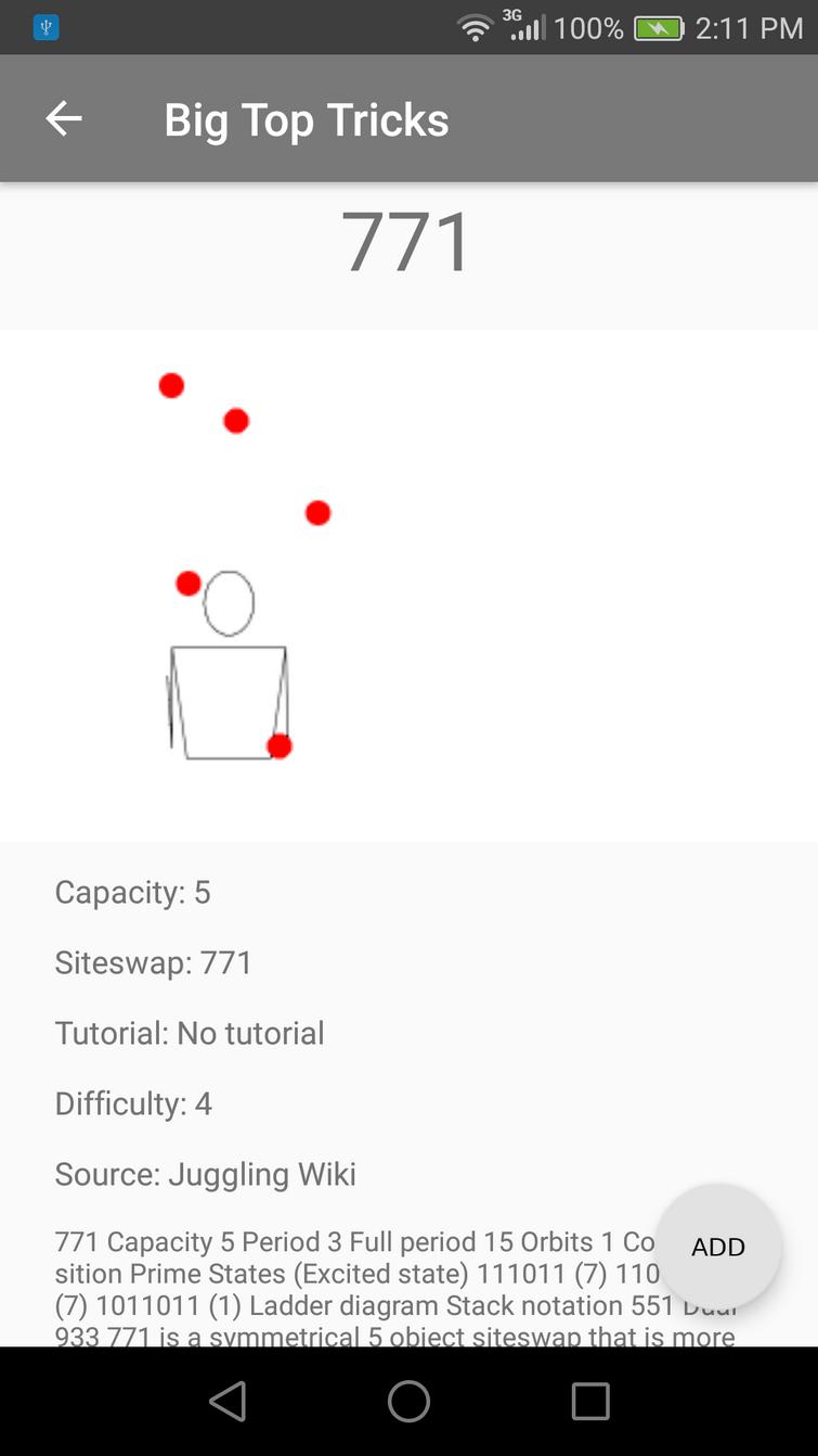 Using data from Juggling Wiki in app
