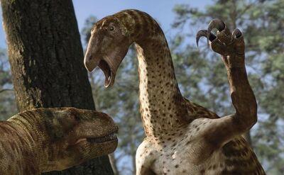 Zunityrannus and Nothronychus.jpg
