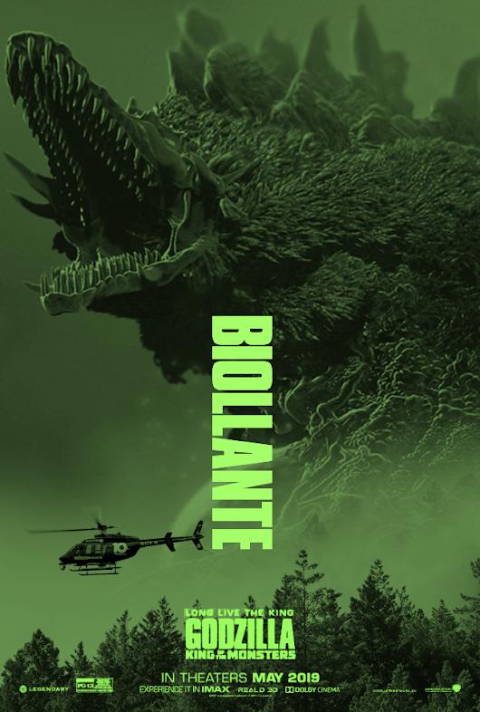 El poster fan de godzilla el rey de los monstruos 2019