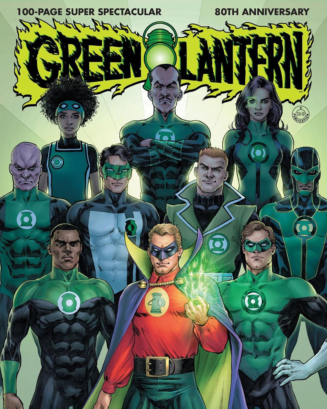 "DC Nation on Instagram: ""Green Lantern 80th Anniversary 100-Page Super Spectacular #1 celebrates eight decades of brightest days and blackest nights—and arrives…"""