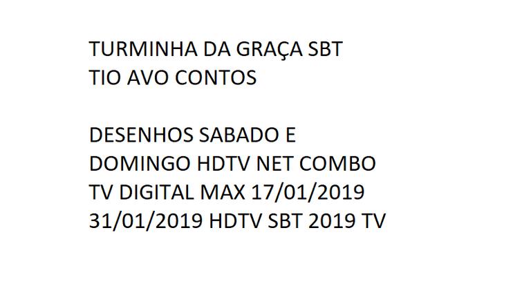 TURMINHA DA GRAÇA SBT DESENHOS 01 TIO AVO CONTOS