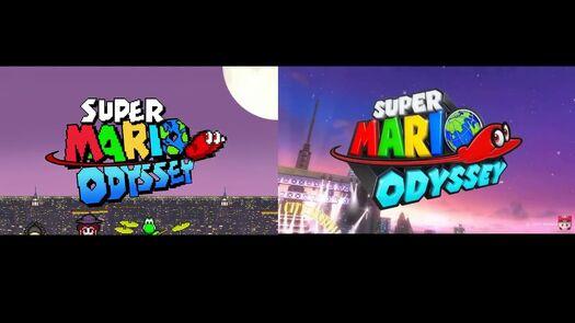 ORIGINAL BY CARLOS SFX: Super Mario Odyssey RETRO And REGULAR Side By Side Comparison
