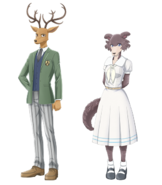 Artwork of characters Louis and Juno