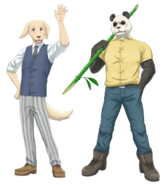Artwork of characters Jack and Gohin