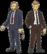 Artwork of characters Ibuki and Free