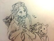 Azumo, Raúl, Gon y Mog (Boceto)