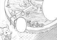 Sala de baños de B-Strike (Manga)