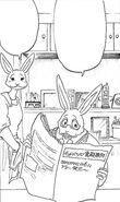 Padre de Hal leyendo el periódico (Manga)