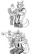 Legoshi y Boss (Boceto) 7