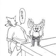 Legoshi y Boss (Boceto) 6