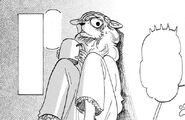 Seven escuchando las conversaciones en la habitación de Legoshi (Manga)