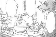 Legoshi incomoda la cena de la familia de Hal (Manga)
