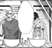 Legoshi y Seven aseándose (Manga)