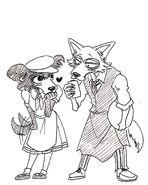 Legoshi y Juno (Boceto) 2