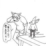 Legoshi y Boss (Boceto) 4