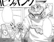 Benny señala a Luna como un pedazo de carne (Manga)