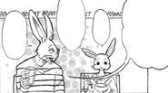Hal junto a su padre (Manga)