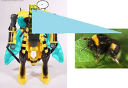 Bumblebeast loses his voice and memories due to a pod crash and scans a bee!