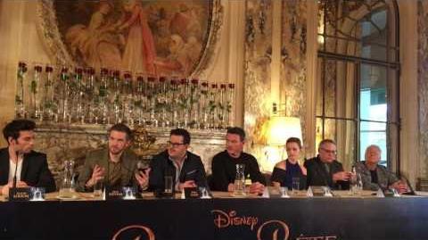 Beauty and the Beast press conference Emma Watson, Luke Evans, Josh Gad, Bill Condon & Alan Menken
