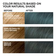 Glam Grunge 617 Light Teal Brown Before and After