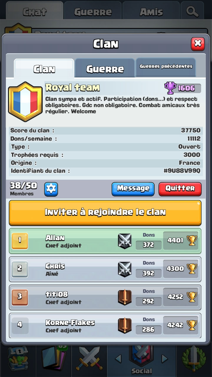 Royal team recrute