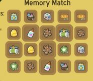 Rewards from the Beesmas memory match