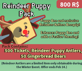 Reindeer Puppy Pack