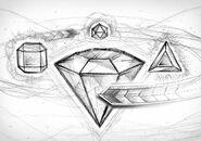 Bejeweled twist box art concept line art