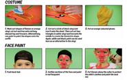 Heatblast facepaint 2