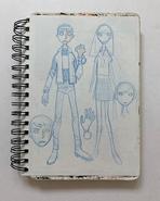 Ben Gwen Alien Force Concept Art Murakami