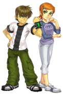 FusionFall Ben and Gwen Art
