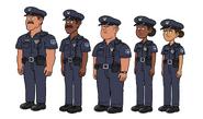 Reboot Police Officers Model Sheet