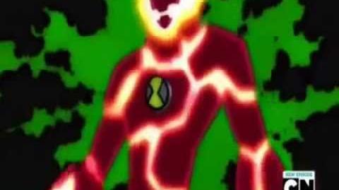 Ben 10 Ultimate Alien - 10 year-old Ben Heatblast Transformation