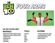 Four arms facepaint