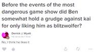 Ben gostava da relação Kai-Blitzwolfer