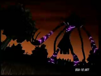 La momia mutante en la noche