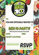 Ben 10 invite