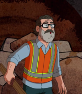 Phil in Construction worker suit