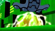 Artropode utilizando seu escudo em o sacrificio supremo