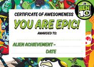 Ben 10 certificate
