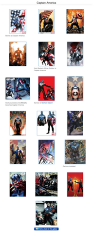 Captain America gallery from the Marvel Wikia today