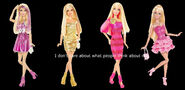 Barbie Fashionistas Black Background With Quote